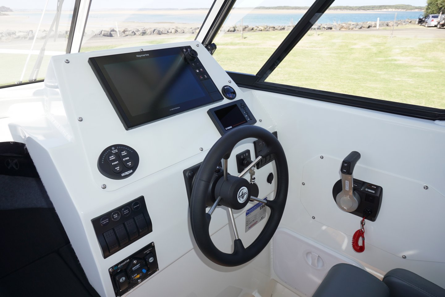Raymarine flush mounted electronics