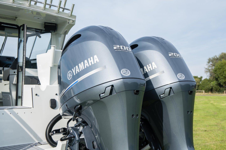 twin Yamaha outboards